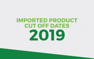 Imported Products 2019 Cut Off Dates