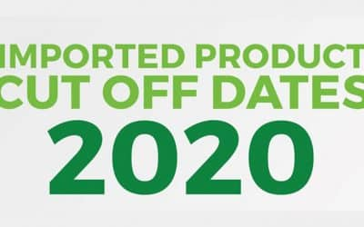 Imported Products Cut Off Dates 2020