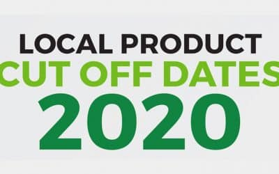 Local Product Cut Off Dates 2020