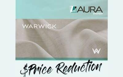 Aura Drapery | Warwick Fabrics Price Reduction